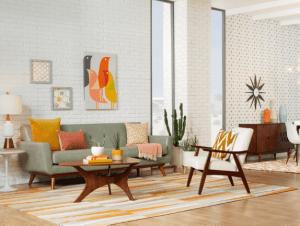 mid century modern interior style