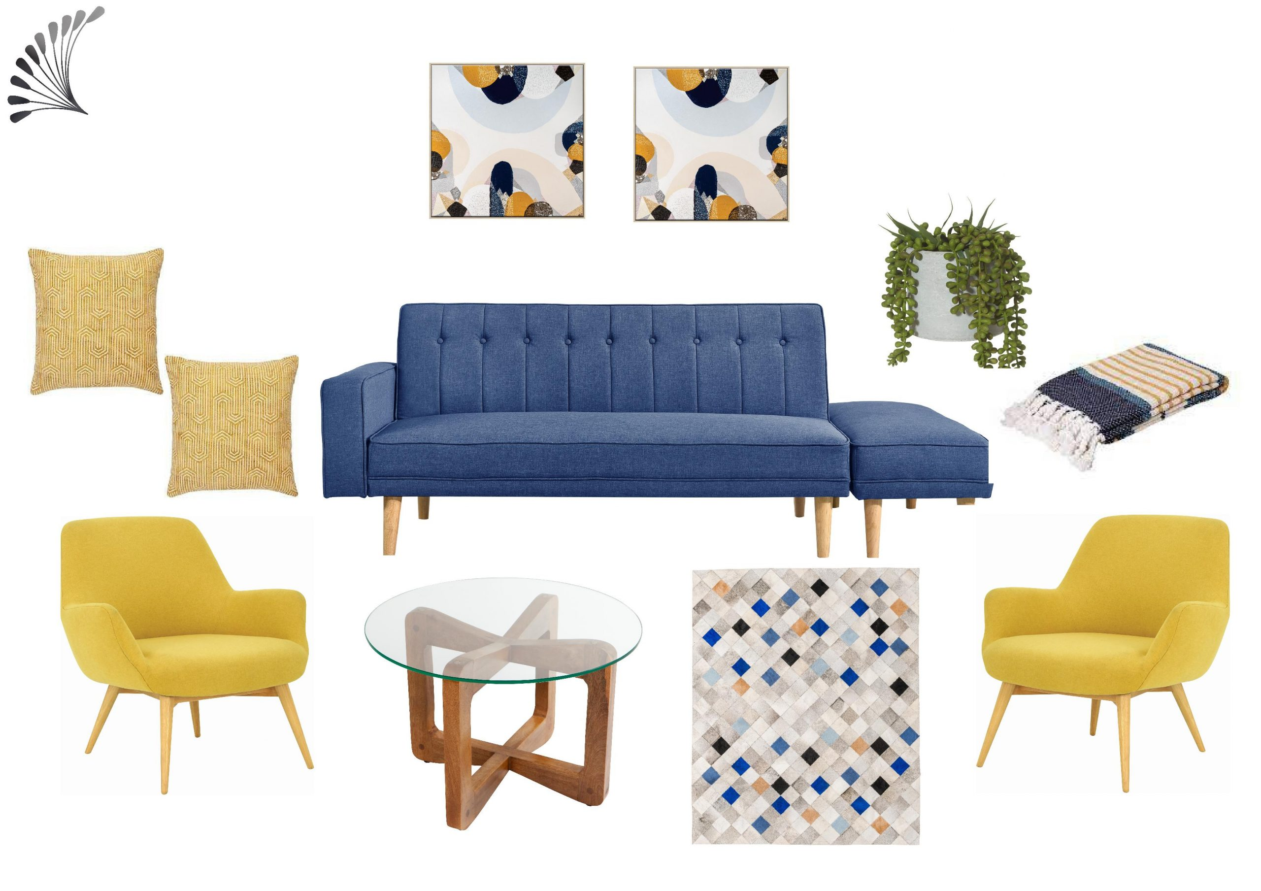 Mid-Century Modern Inspired with Happy Colours