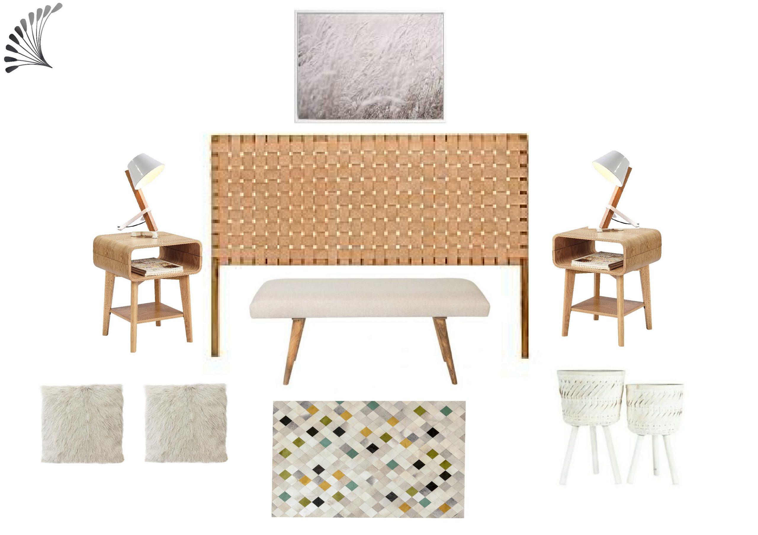 Neutral Textural Scandinavian Bedroom