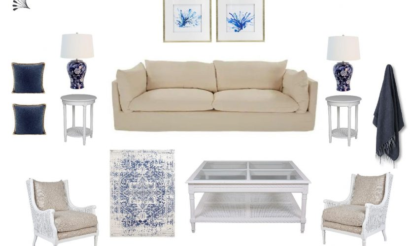 Classic Hamptons Living Room Furniture Package