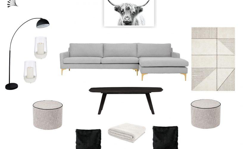 Scandi Noir Living Room