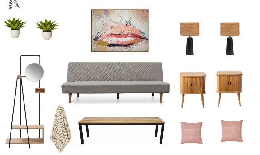 Earthy Scandinavian Guest Room