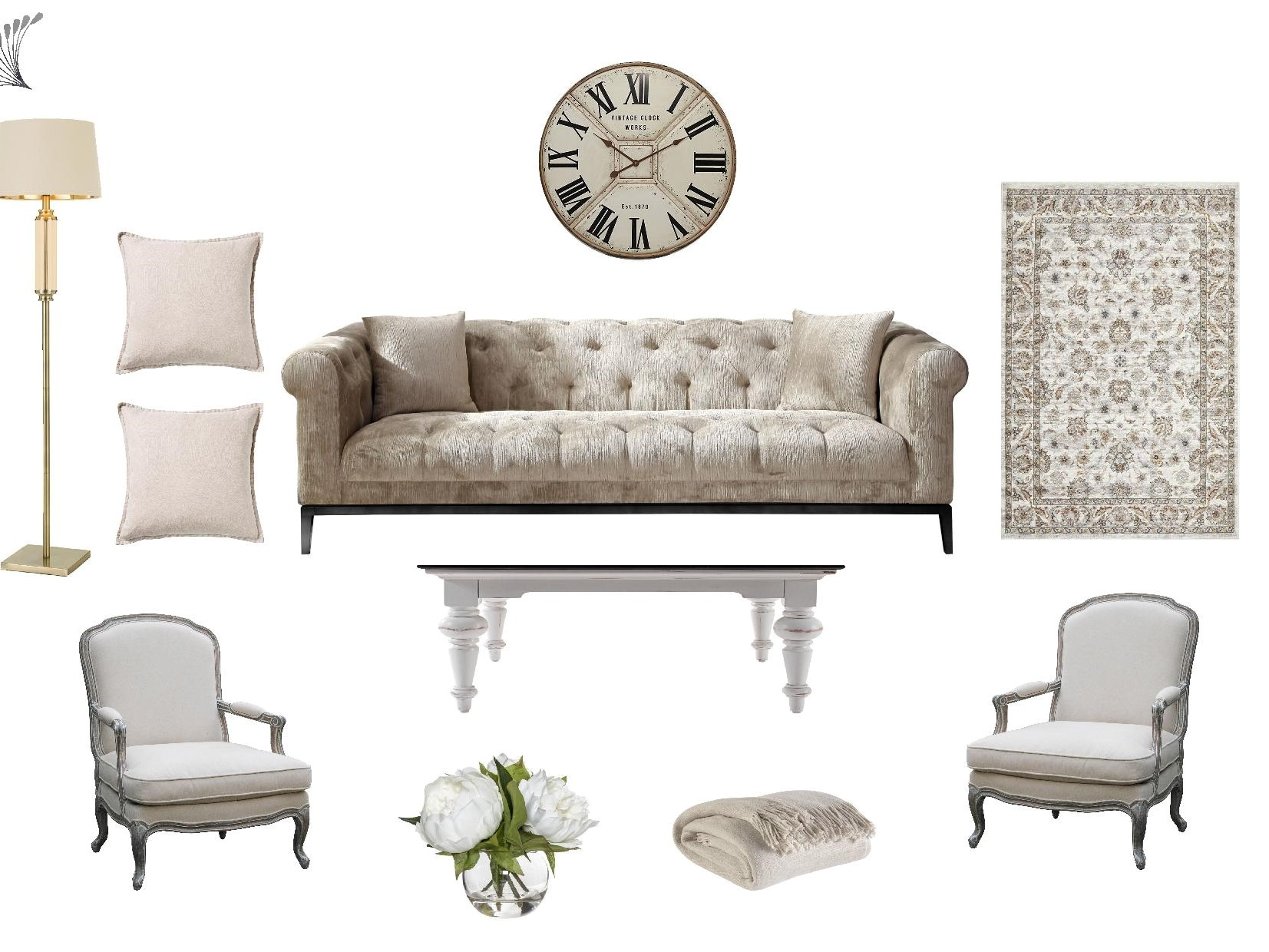 French Provincial Living Room Furniture Package