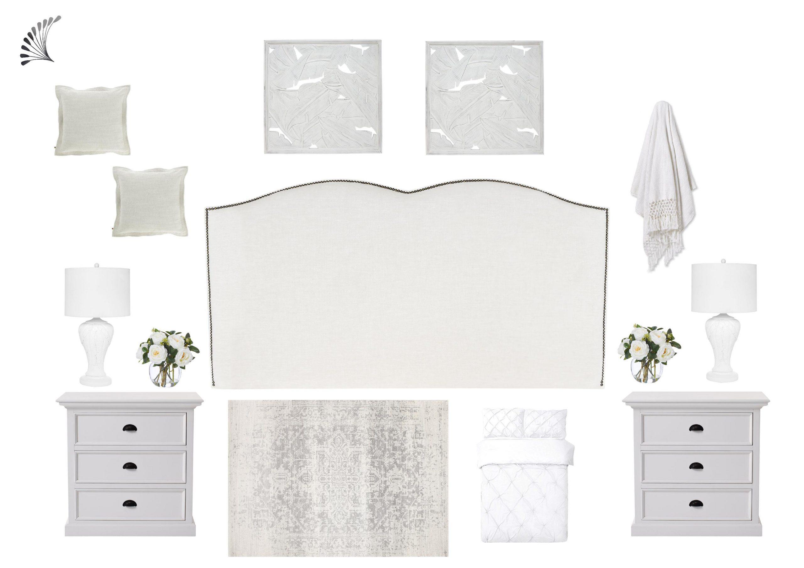 Dreamy White Hamptons Bedroom
