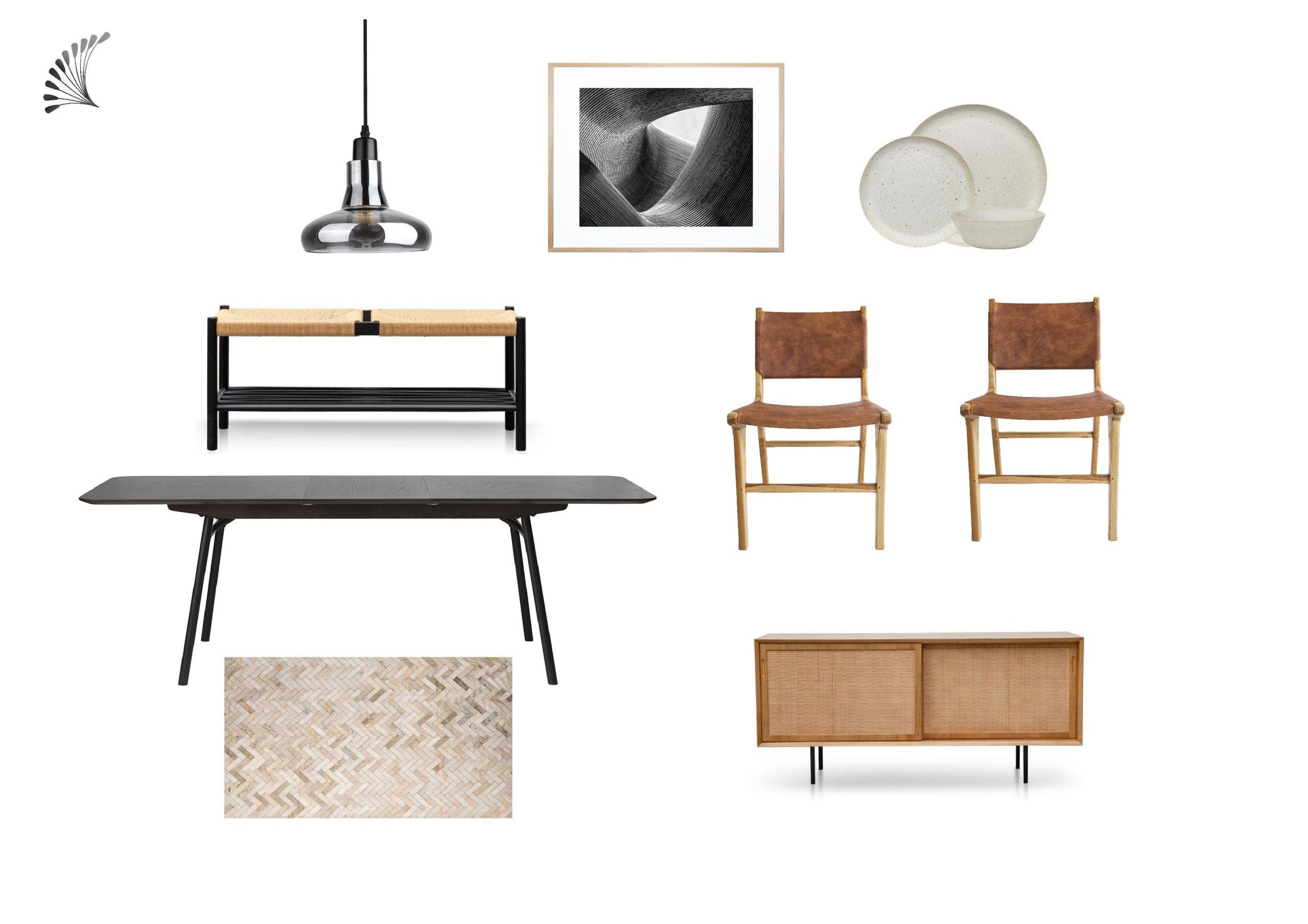 Industrial Dining with tan accent