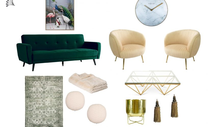 Luxe Living with Lush Green Velvet Sofa