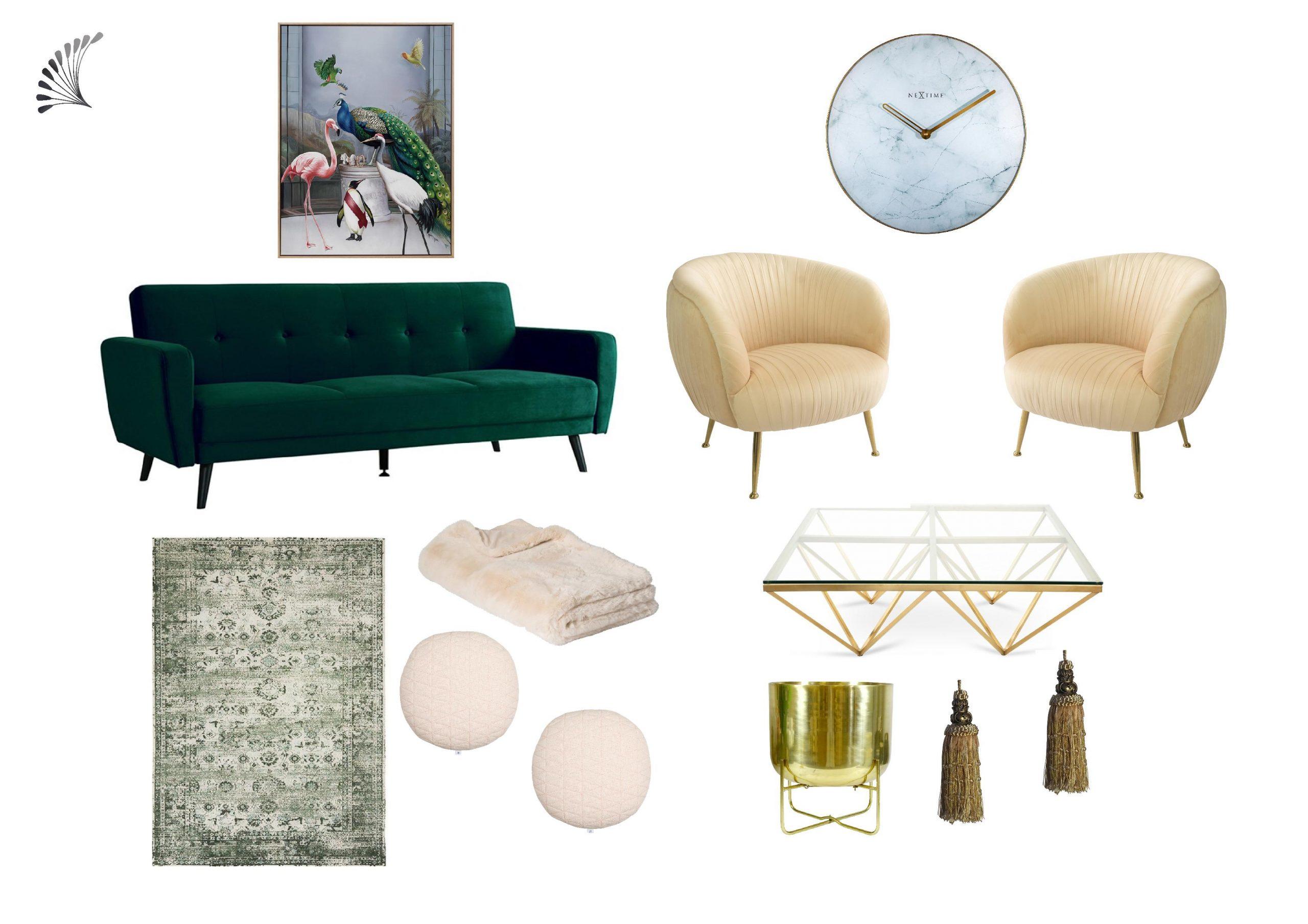 Luxe Living with Lush Green Velvet Sofa