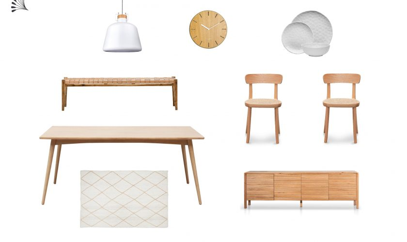 Scandinavian Dining with White & Wood