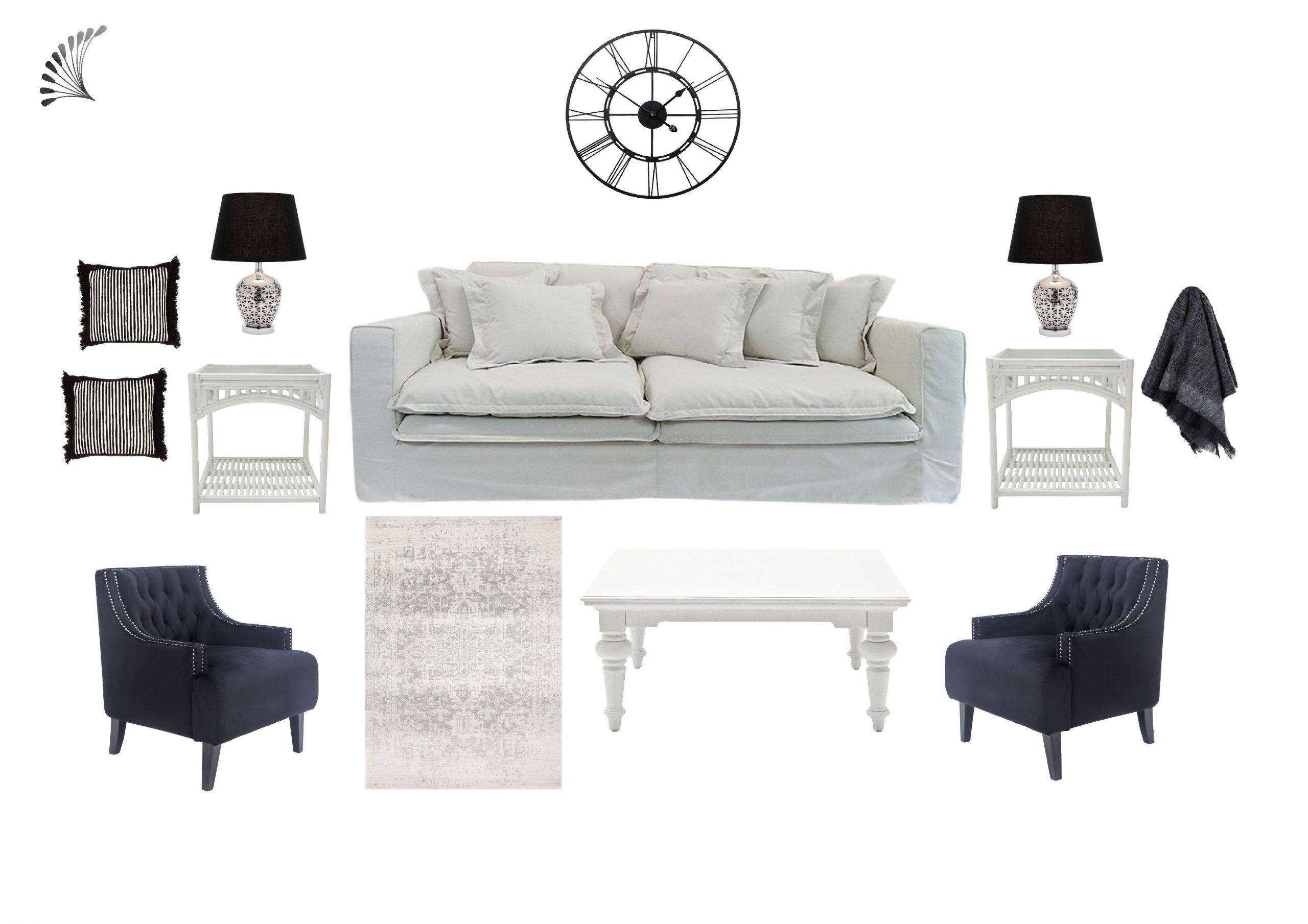 Monochrome Hamptons Living
