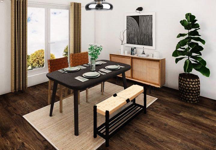 Tan Industrial Dining Furniture Package