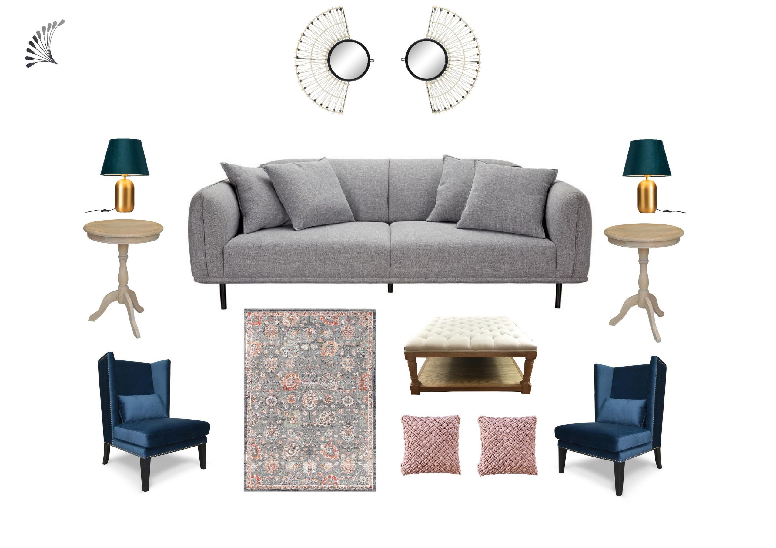 Eclectic Living Room With Gorgeous Blue Accent The Design Basics