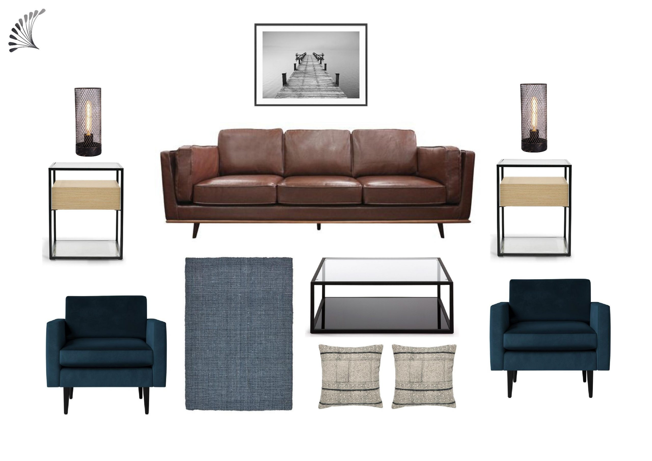Warm Industrial style living room